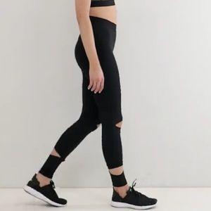 IVY PARK Pants - Ivy Park Active Slashed Leggings In Black